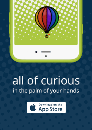 All of Curious in the palm of your hands. Download on the App Store
